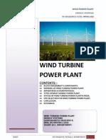 Wind Turbine Power Plant