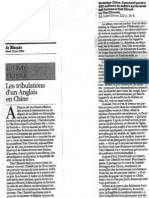 Mr China - Le Monde (20-06-06)
