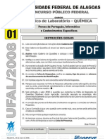 Prova - Tecnico Em Lab Oratorio Quimica - Tipo 1