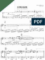 [Sheet Music - Piano Score] Guns n' Roses _-_ Estranged