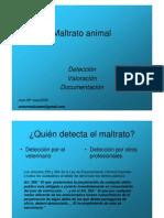 Valoracion y Deteccion de La Crueldad a Animales de Compañia