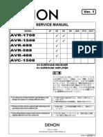 DENON AVC-1508 AVR-488 Series Service Manual