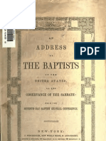 Seventh Day Baptist Address to Baptists in America, 1843