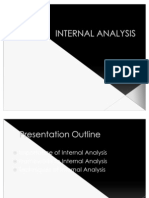 Internal Analysisf