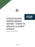 Gürcistan (Conflict of Georgia) sorunu değerlendirme raporu