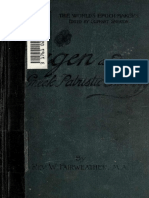 Fairweather. Origen and Greek patristic theology. 1901.
