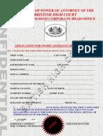 Affidavit of Guarantee Form.