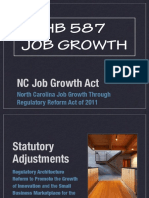 First Public Draft of HB587 NC Job Growth committee presentation