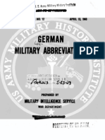 German Military Abbreviations
