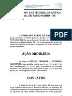 PETIÇÃO INICIAL FUNRURAL SINDICATO RURAL DE PASSO FUNDO
