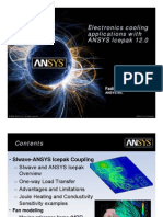 Electronics Cooling Applications With ANSYS Icepak 12.0