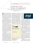 Gay  rights and the politics of humanity