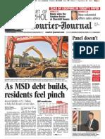 Metropolitan Sewer District debt and finances