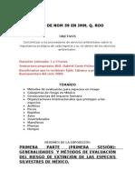 Temario Del Curso Especies en La NOM59
