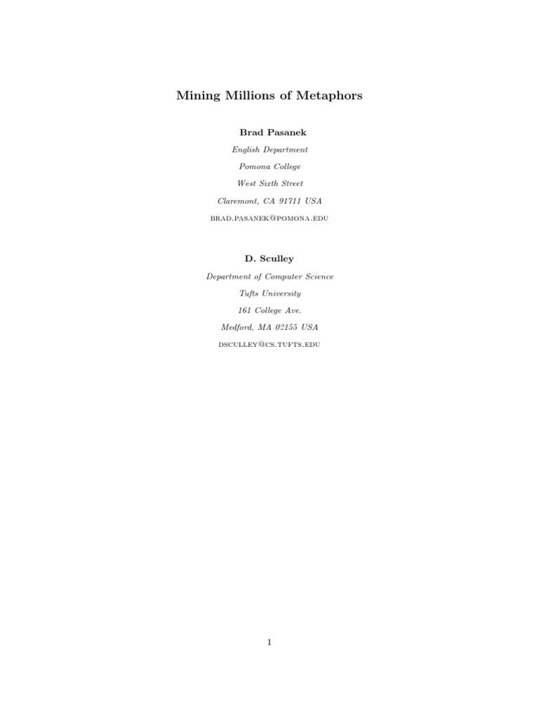 Million Metaphors Support Vector Machine Epistemology