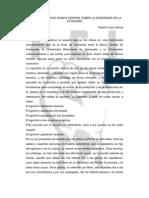 VLADIMIR LAZOGARCIA. CONFERENCIA EN EL BANCO CENTRAL SOBRE LA ENSEÑANZA DE LA ECONOMÍA.