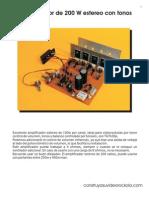 Amplificador TA7630_200W