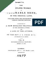 Giles. Saint Bede, The Complete Works of Venerable Bede. 1843. Vol. 2.
