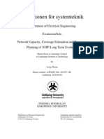 LTE - Network Capacity, Coverage Estimation and Frequency