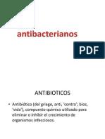 ANTIBIOTICOAS ANTIBACTERIANOS