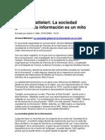 Armand Mattelart La sociedad global de la información es un mito