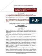Código Procedimientos Civiles DF