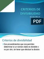 Criterios-De-divisibilidad Mcd y Mcm