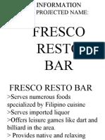 FRESCO RESTO BAR Vanz Power Point