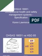CWOSH OHSAS 18001