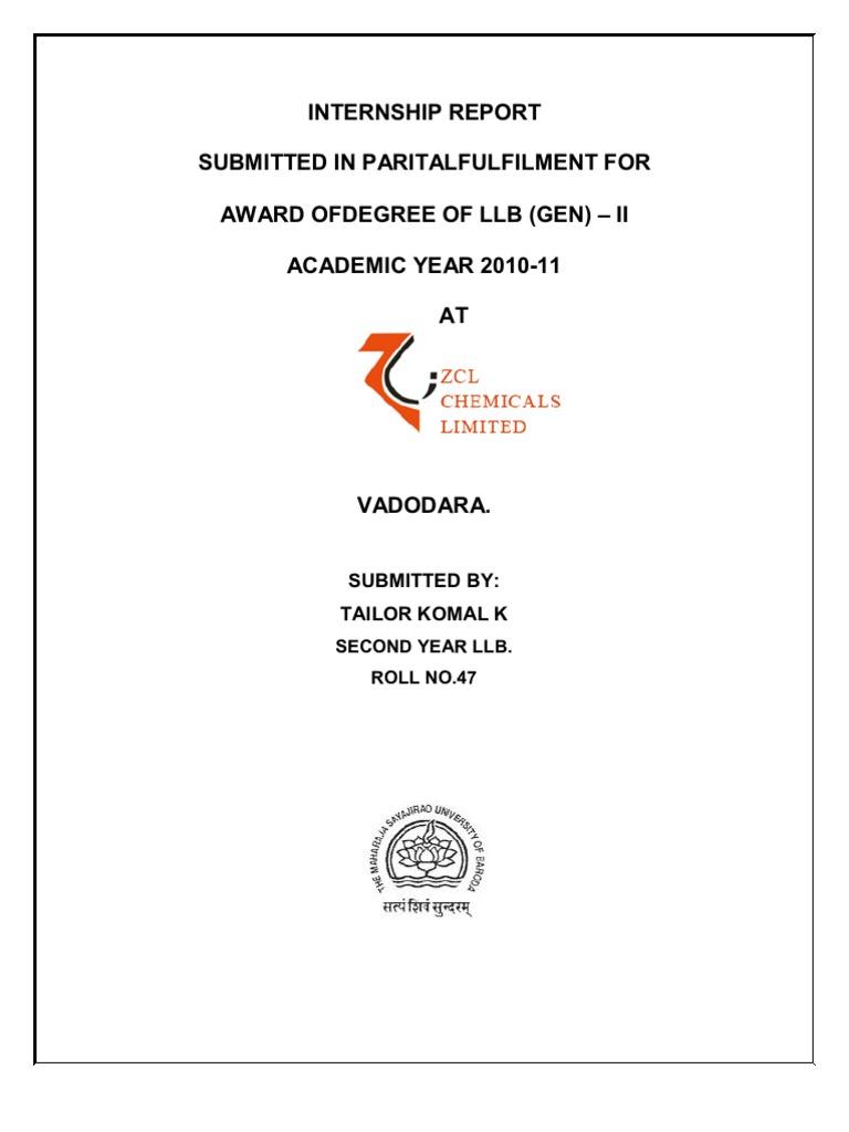 Internship Report | Occupational Safety And Health | Tariff