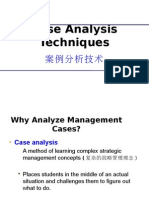 4. Case Analysis Techniques