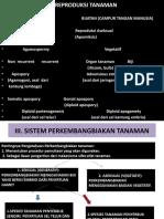 III. Reproduksi Tanaman