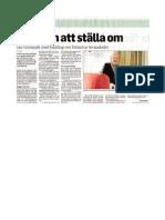 Besök till Tranås Jan Försmark  artikel  TT 110409