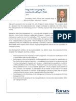 Managing Construction Risk - Frank B. Mitchell Jr.