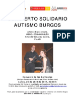 Concierto de cámara abril 2011_Autismo Burgos