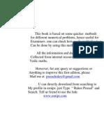 Maths Prasad's Quicker Math-Vol 1