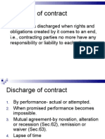 Discharge of contract(5)