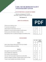 Evaluación Uso Redes y Google docs en 3º ESO