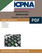 Expo Semicolons