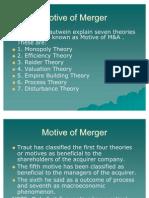Motive of Merger