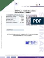 Granito Gris Lima G603 Informe Tecnico - Sevimar