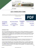 Unix Commands for AIX