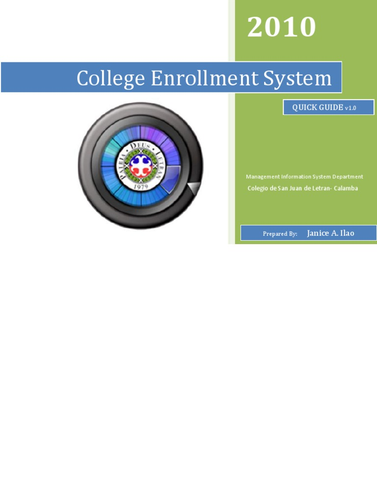 enrollment system thesis documentation Enrollment system in visual basic source  enrollment system  in information technology system development thesis documentation for information.