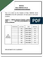 Nep Presentation Schedule