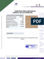 Granito Yellow Swing G682 Informe Tecnico - Sevimar