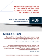 Pre Treatment Technologies for an Efficient Bio Ethanol Production Process
