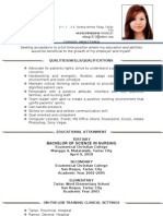 Updated Resume Nursing