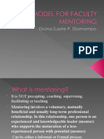 A Model for Faculty Mentoring