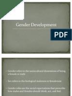 Gender and Social Development