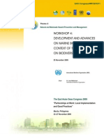 Proceedings of the Workshop on the Development and Advances on Marine Biosafety in the Context of the Convention on Biodiversity